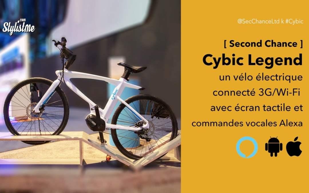 Cybic Legend le vélo électrique connecté avec commandes vocales Alexa
