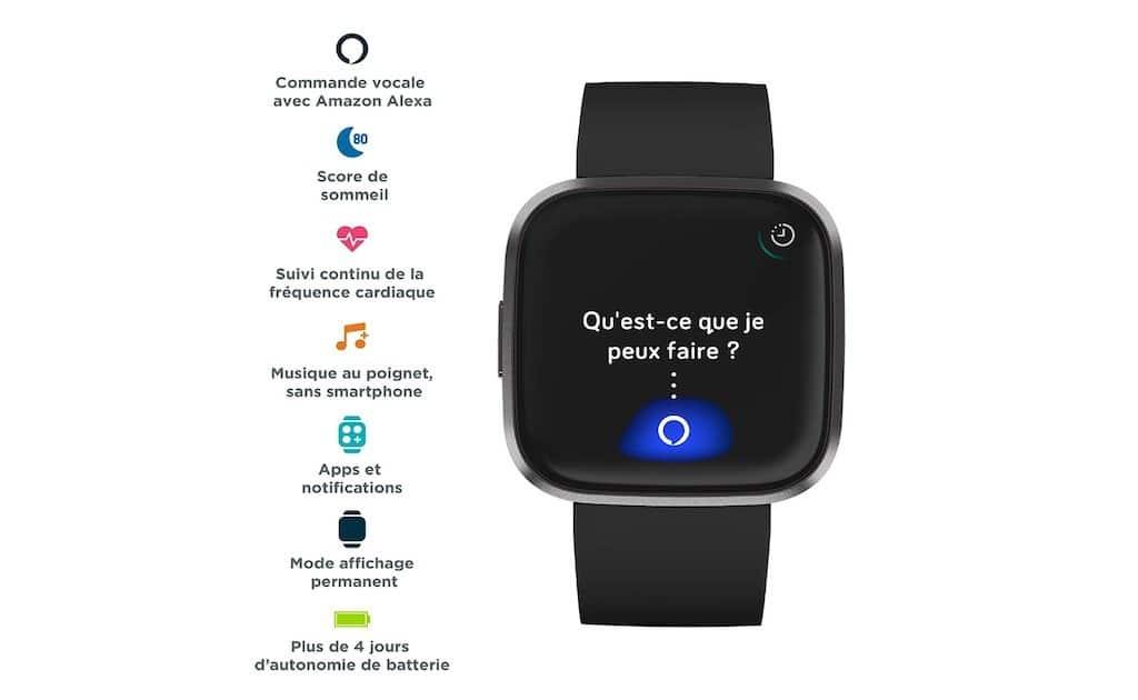 Fitbit Versa 2 Alexa fonctionnalités