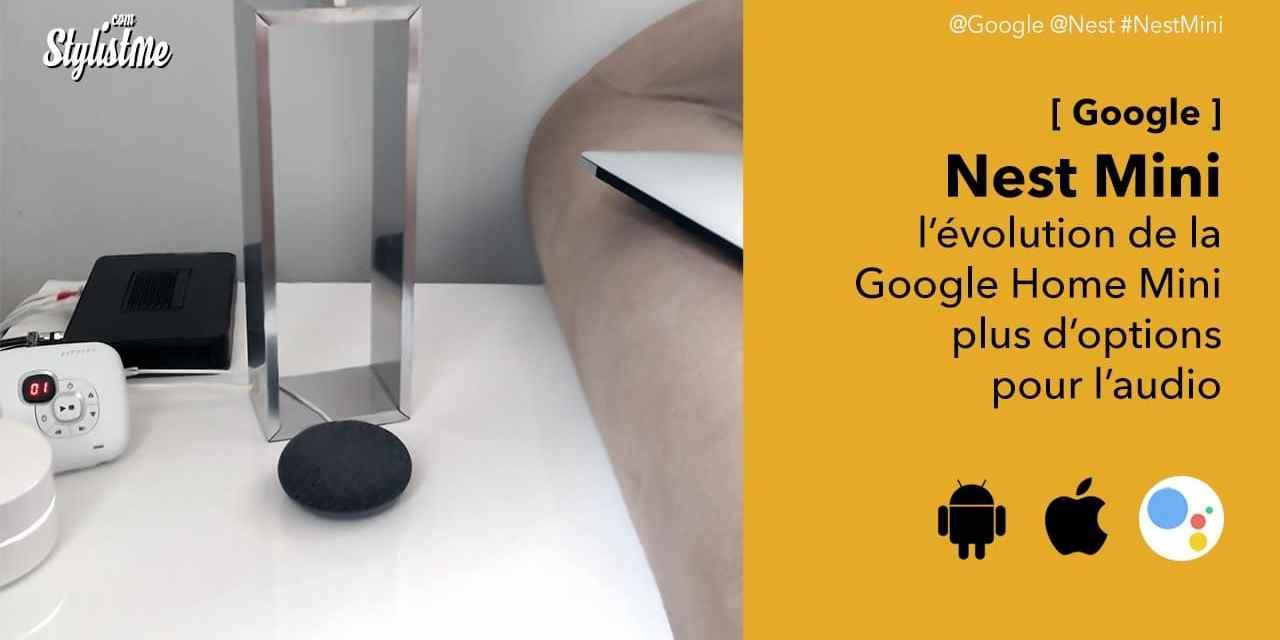 Nest Mini la version améliorée de l'enceinte vocale Google Home mini