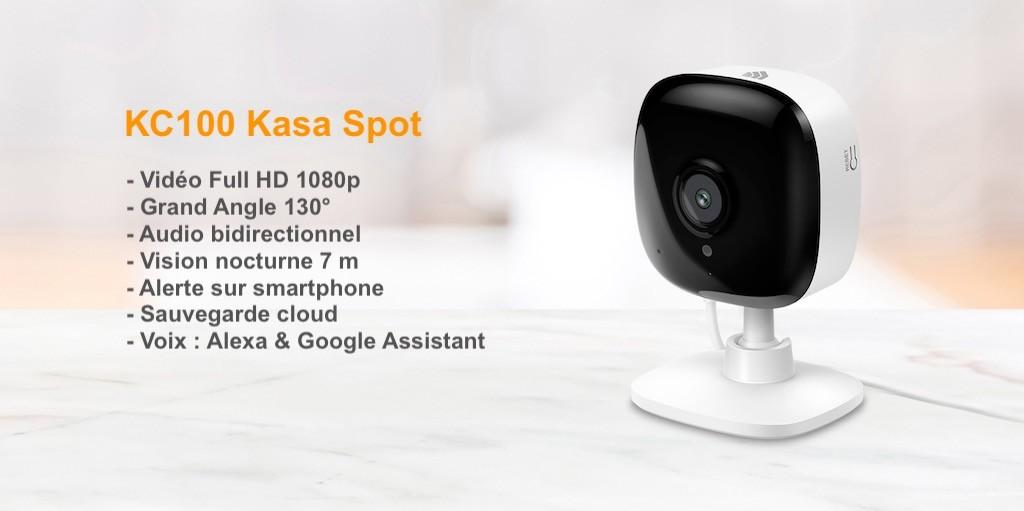 KC100 Kasa Spot TP-Link caméra surveillance pas cher