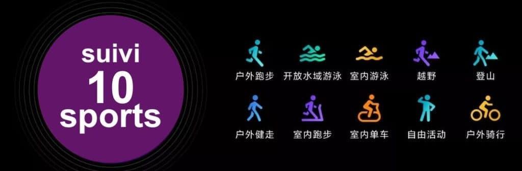 Mi Watch Color suivi 10 activités sport