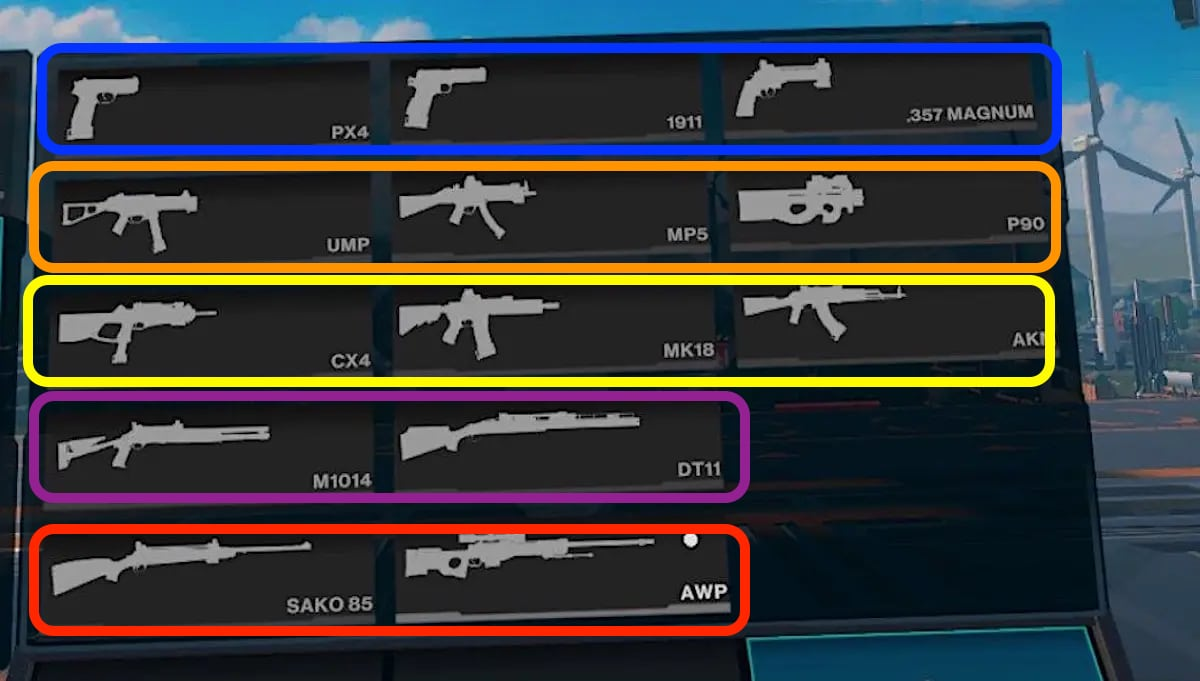 armes Population One meilleure arme