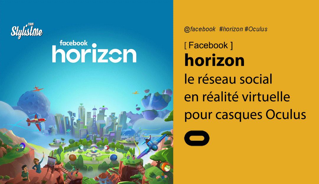 Facebook Horizon le réseau social en réalité virtuelle pour Oculus Quest