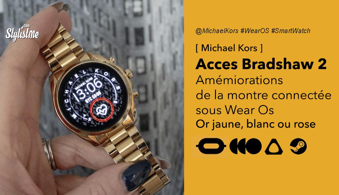 Access Bradshaw 2 Michael Kors prix test avis montre luxe connectée Wear Os