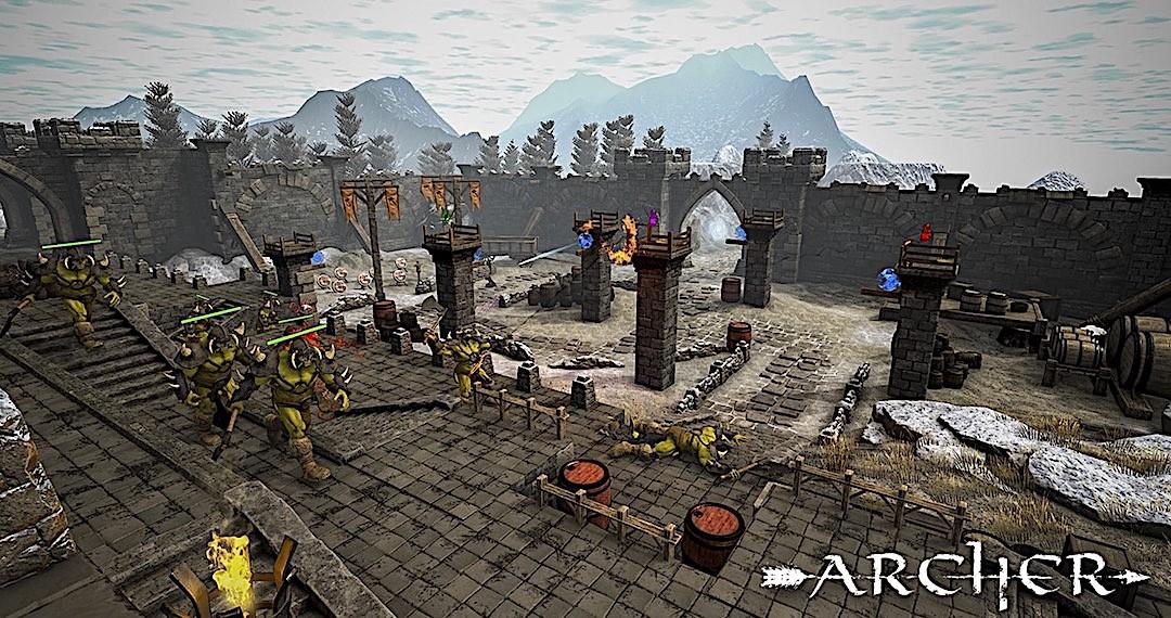 Archer VR jeu réalité virtuelle tir a l arc vr médiéval