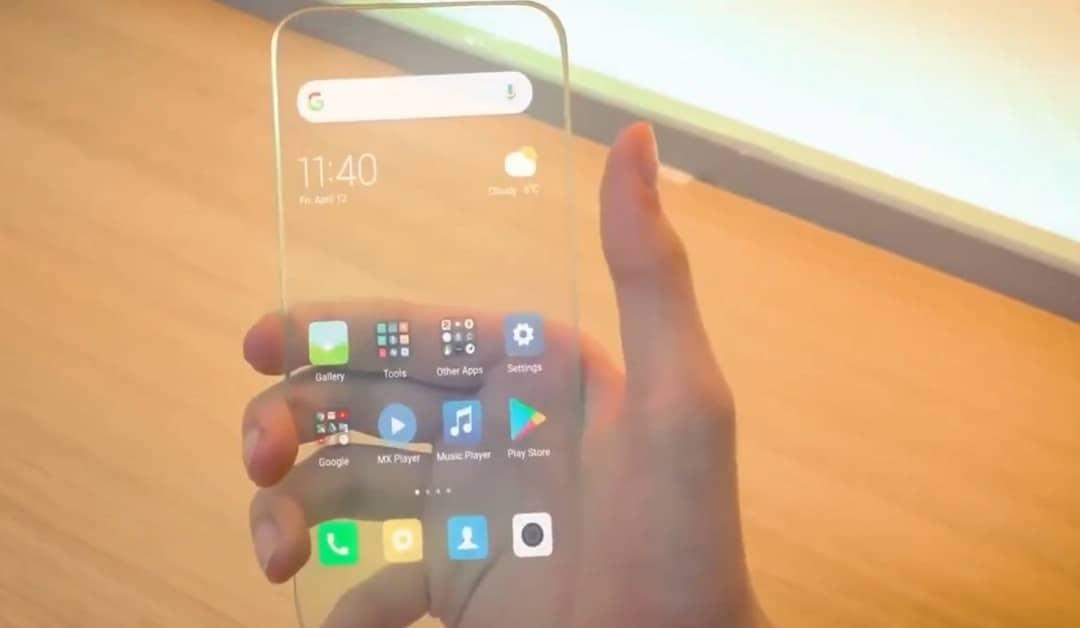 Mi Clear Xiaomi smartphone transparent