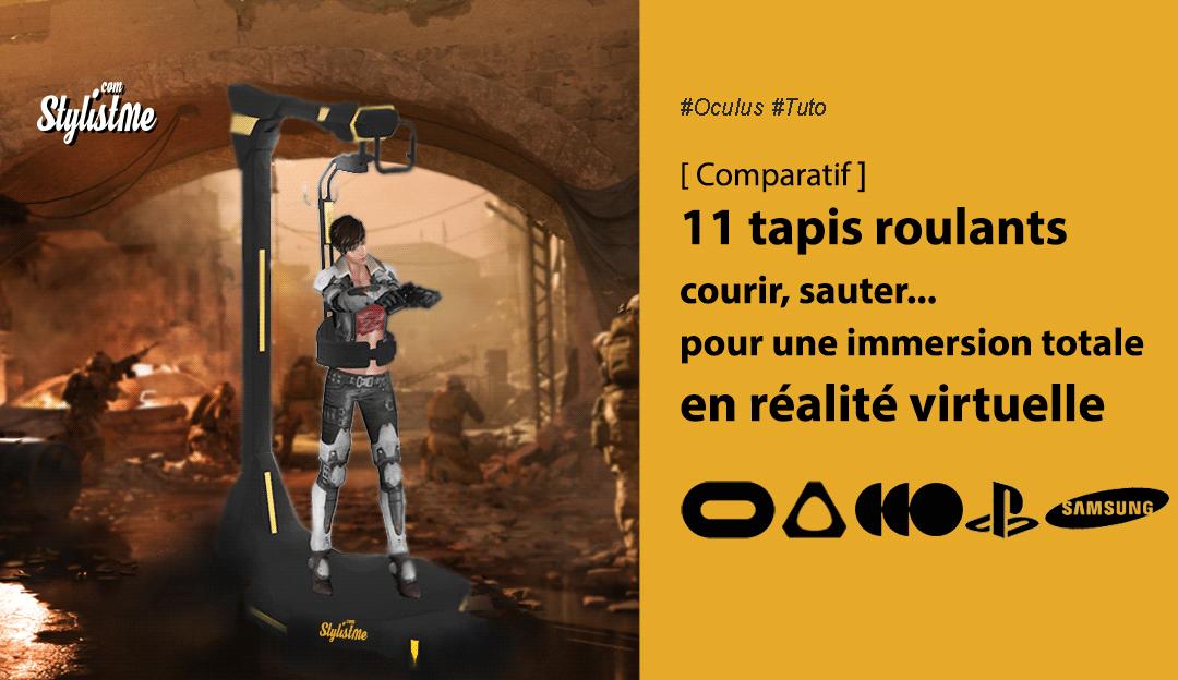 Comparatif tapis roulants pour casques en réalité virtuelle ou treadmill VR