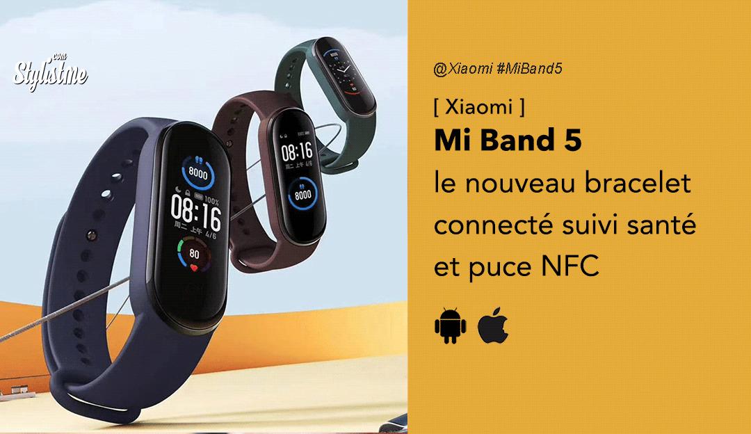 Xiaomi Mi Band 5 nouveau bracelet connecté pas cher