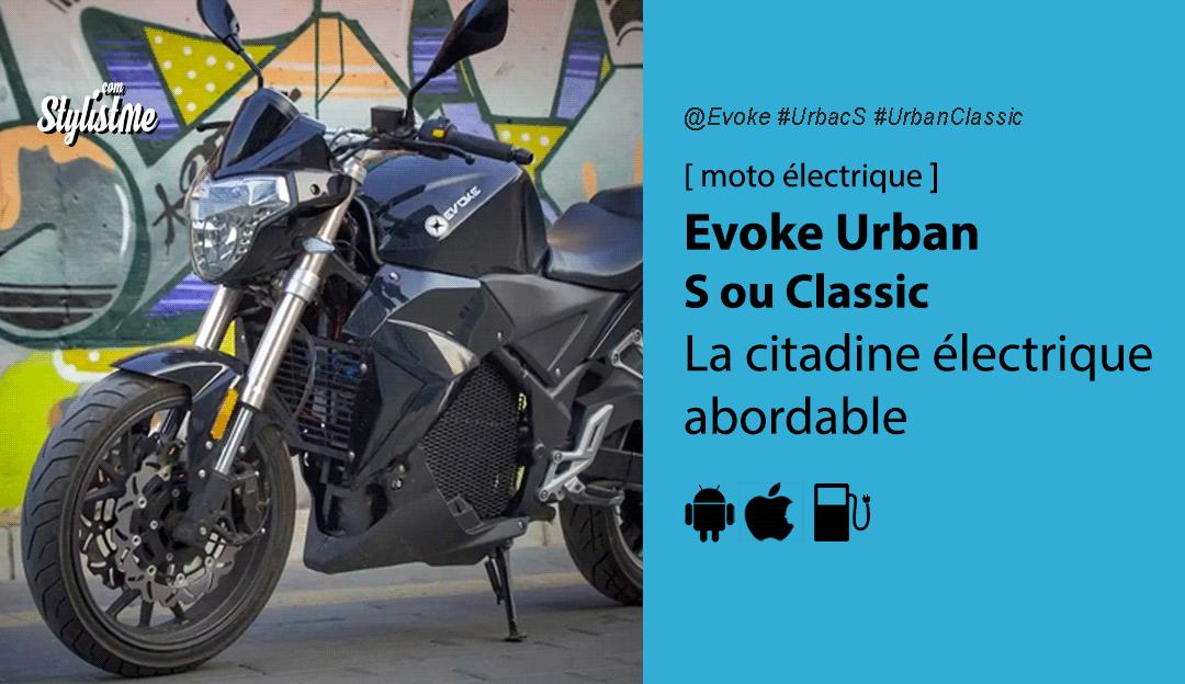 Evoke Urban S avis test prix moto électrique abordable