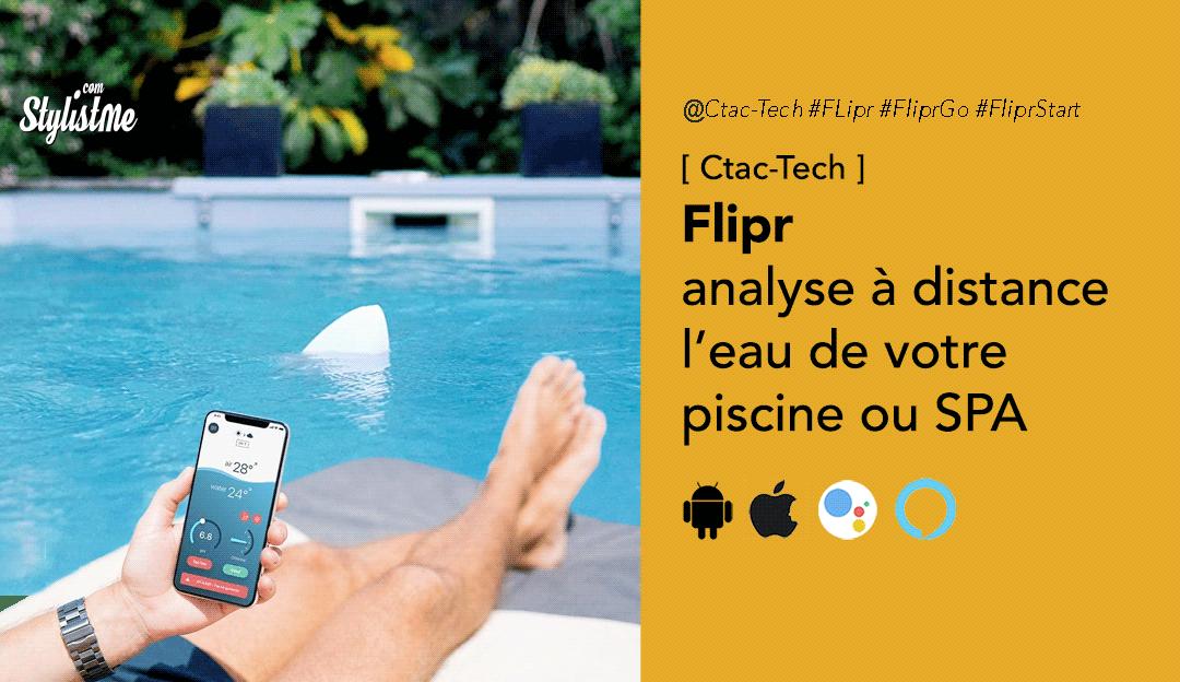 Flipr piscine connectée analyse et notifications, également pour Spa