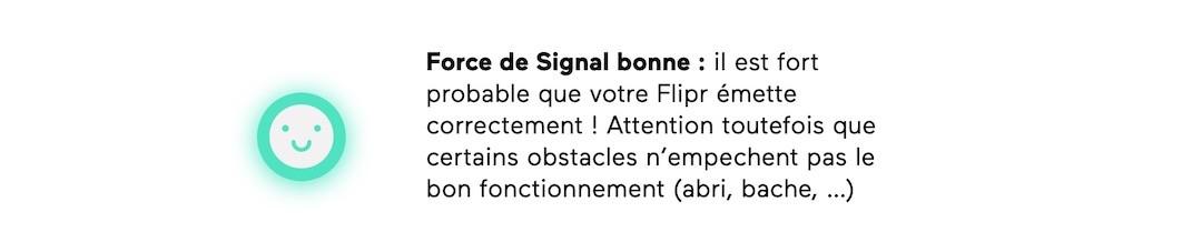 force signal sigfox par adresse