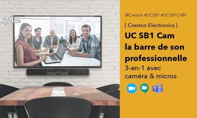 Creston UC SB1 CAM une barre de son avec caméra HD pour visioconférence