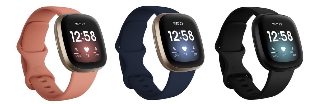 Fitbit Versa 3 couleur dimensions