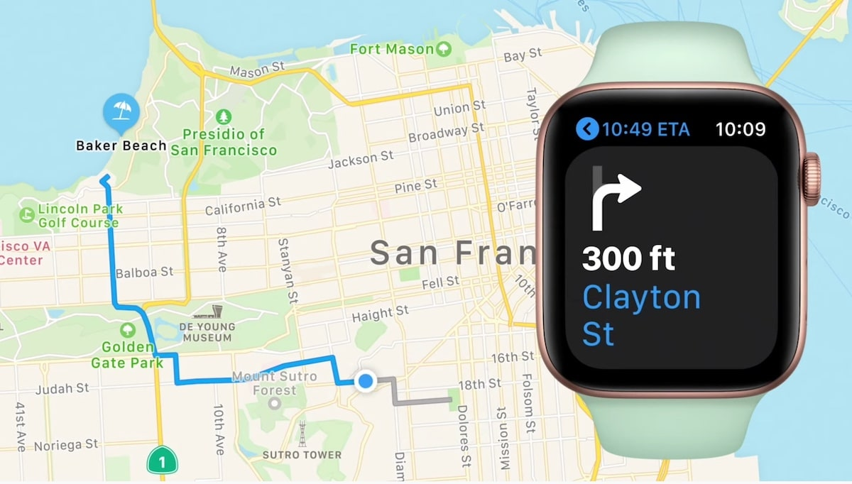 GPS carte Apple Watch 6