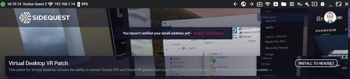 SideQuest Oculus Quest 2 tuto