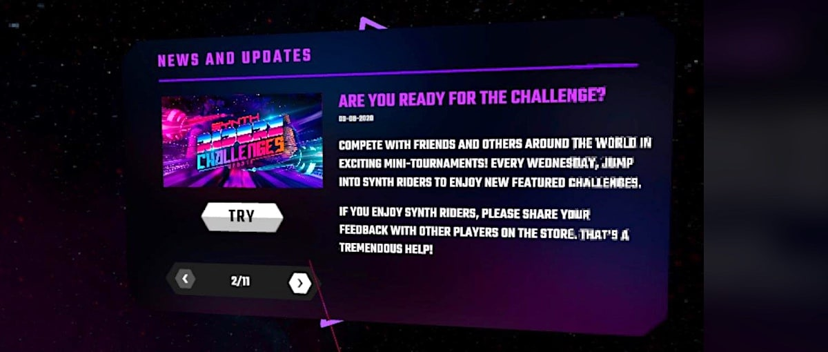 participer aux challenges Synth RIders