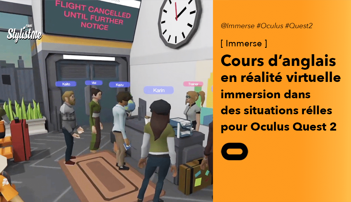 Immerse cours anglais Oculus Quest 2