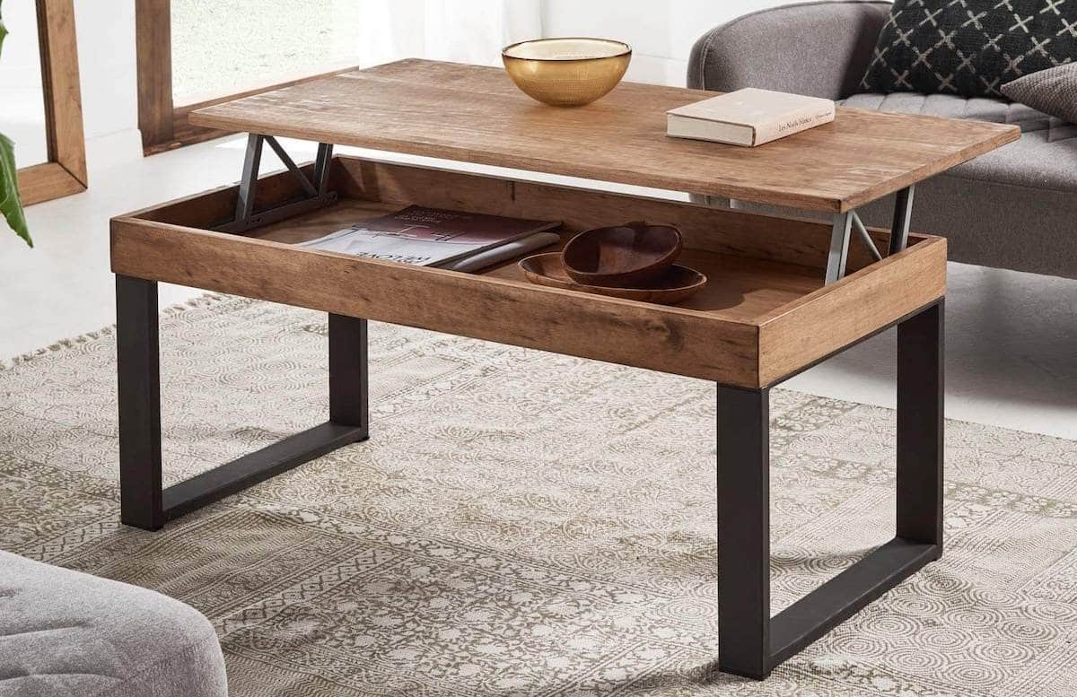 table basse modulable relevable