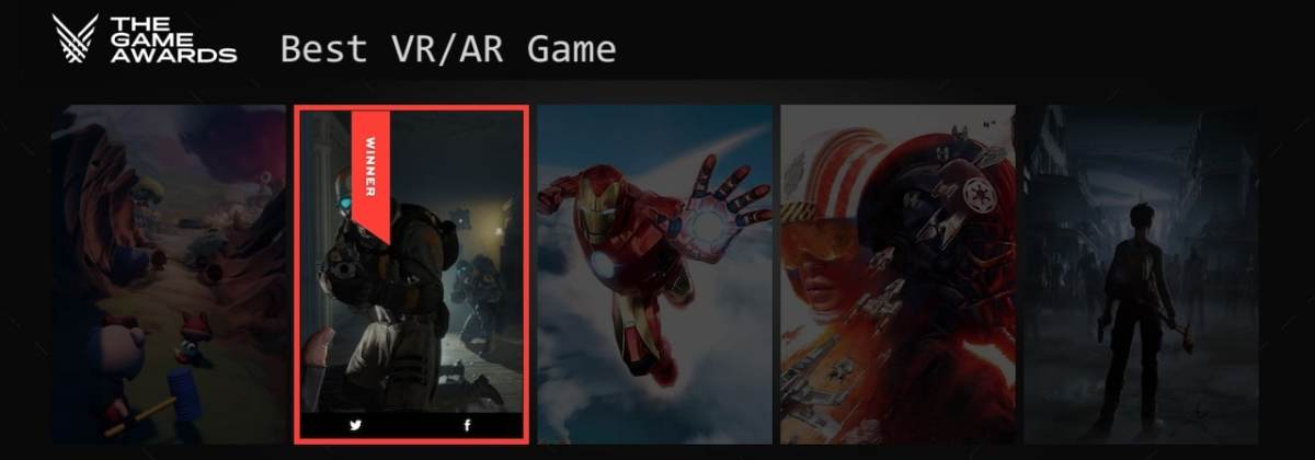 The game awards 2020 VR