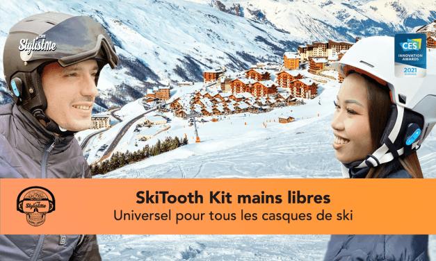 SkiTooth : votre casque de ski transformé en casque Bluetooth [CES 2021]