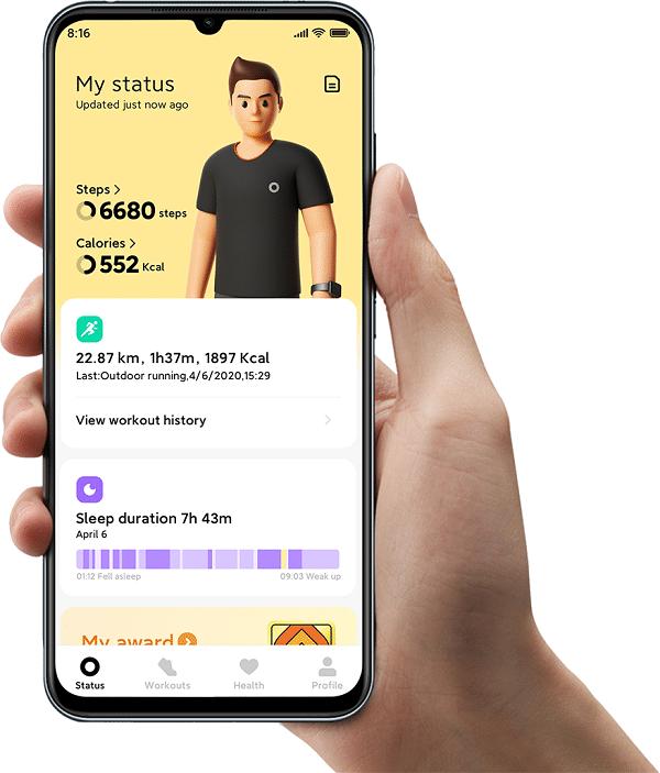 Xiaomi Mi Watch Lite suivi activité