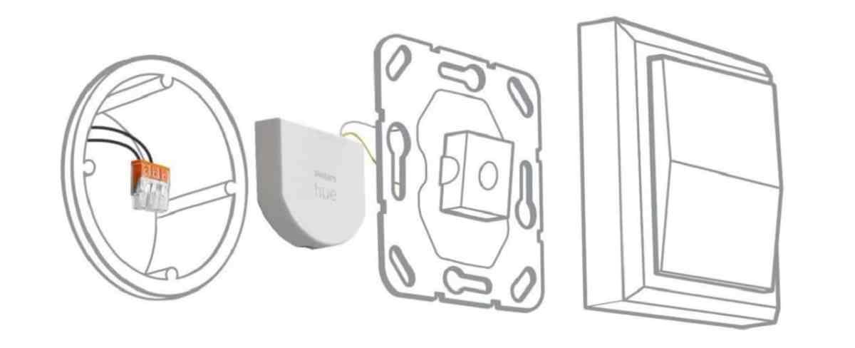 micromodule Philips Hue installation