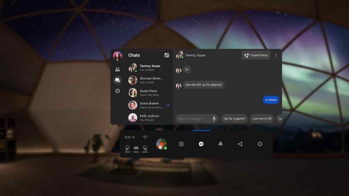 Messenger VR Oculus