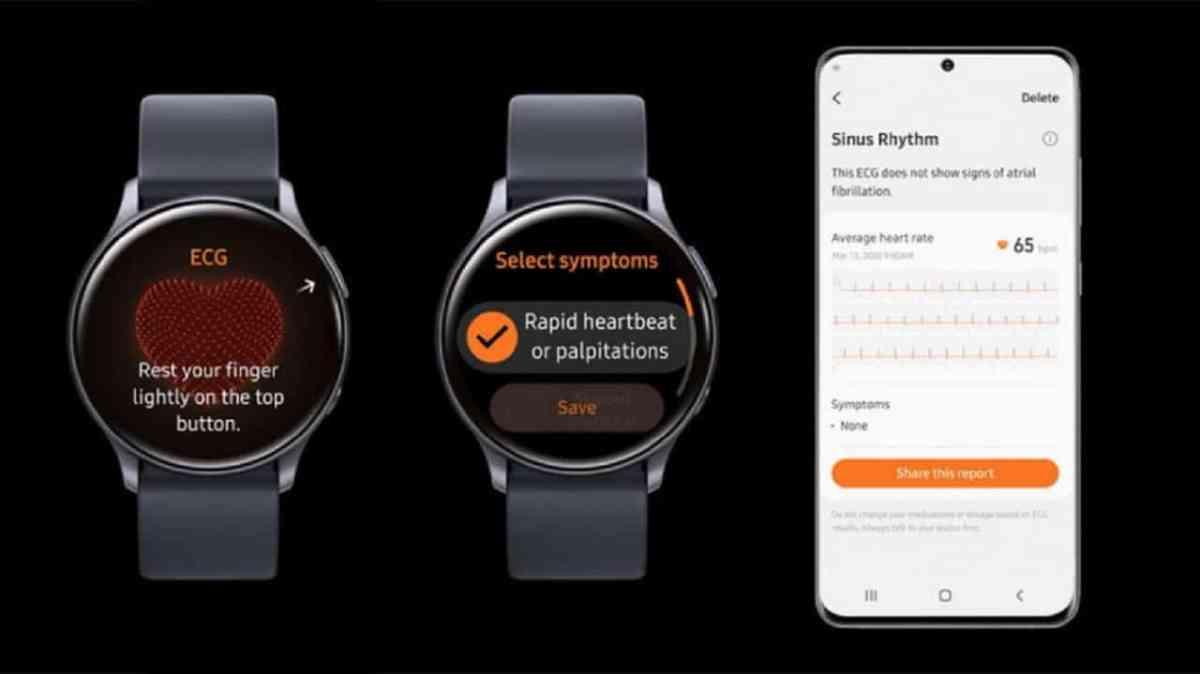 Samsung Galaxy Watch 4 ECG Pression sanguine et Diabète