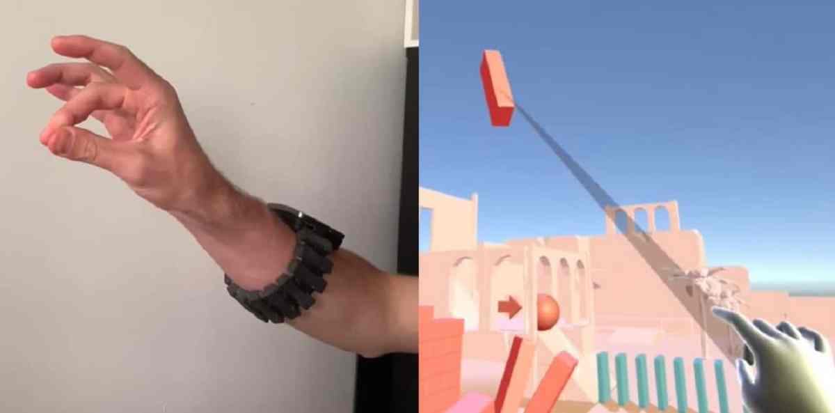 Tasbi Facebook bracelet neuronal oculus suivi des mains