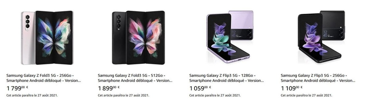 Samsung Galaxy Z Fold 3 promotion