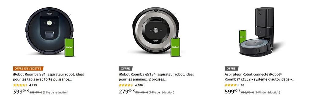 Réductions iRobot Prime Days 2021