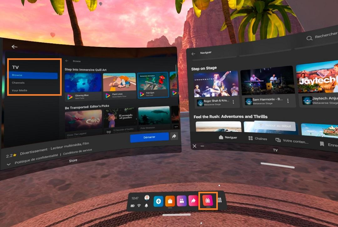 Clip vidéo Oculus TV Quest 2