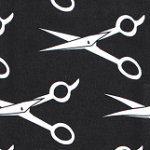 Print: Black/White Scissors
