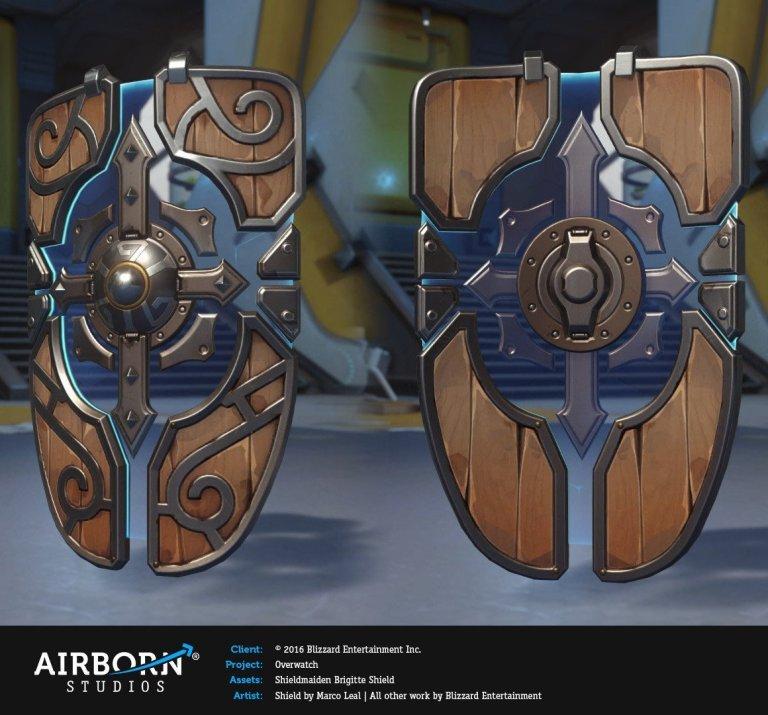Shieldmaiden Brigitte Weapon and Shield – Marco Leal
