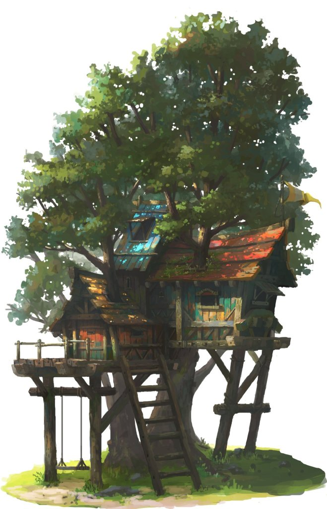 The above hideout tree by OKU .
