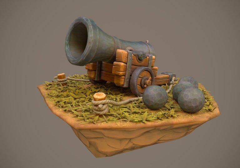 Stylized Cannon by Piotr Szumiło