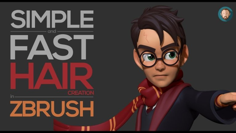Simple and easy stylized hair creation in Zbrush