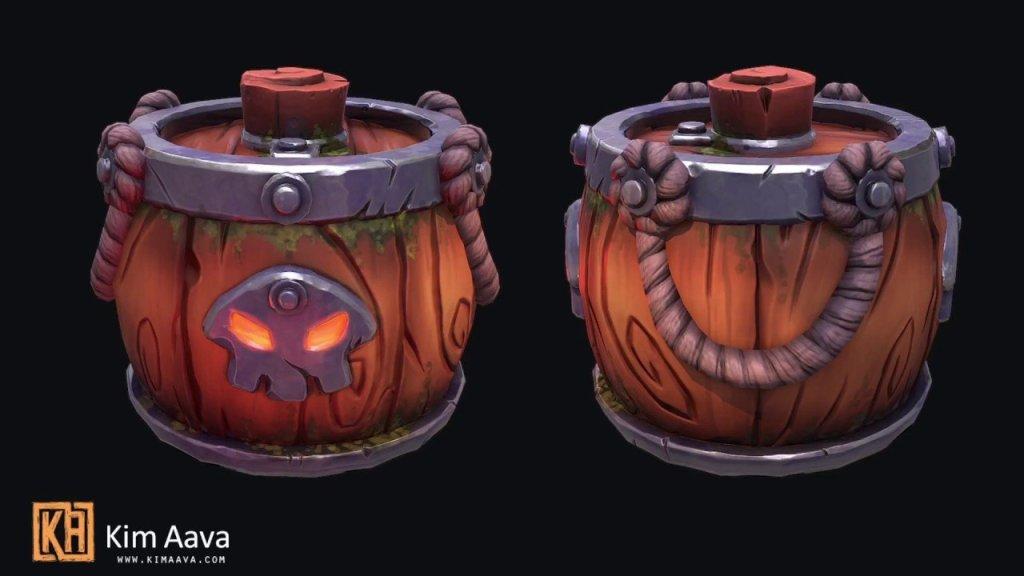 (Speedsculpt) Modeling a Barrel Prop in Maya [Maya, Zbrush, Quixel, Substance Painter]