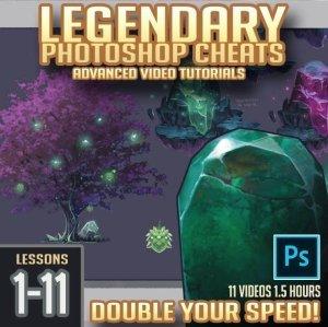 Legendary Photoshop Cheat Box (Lessons 1-11) By  Trent Kaniuga