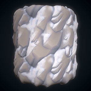 Stylized Rock Snow SBS file By  karalysson