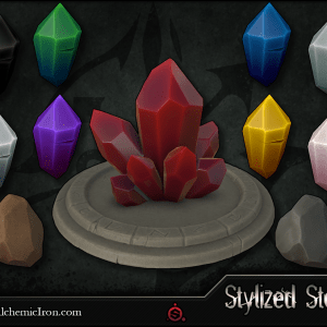 Stylized Stone – Smart Materials By  Alchemic Iron Games