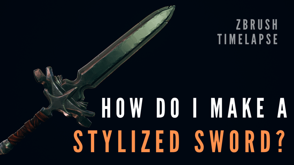 How to create a Stylized Sword in Zbrush [Speedmodel]