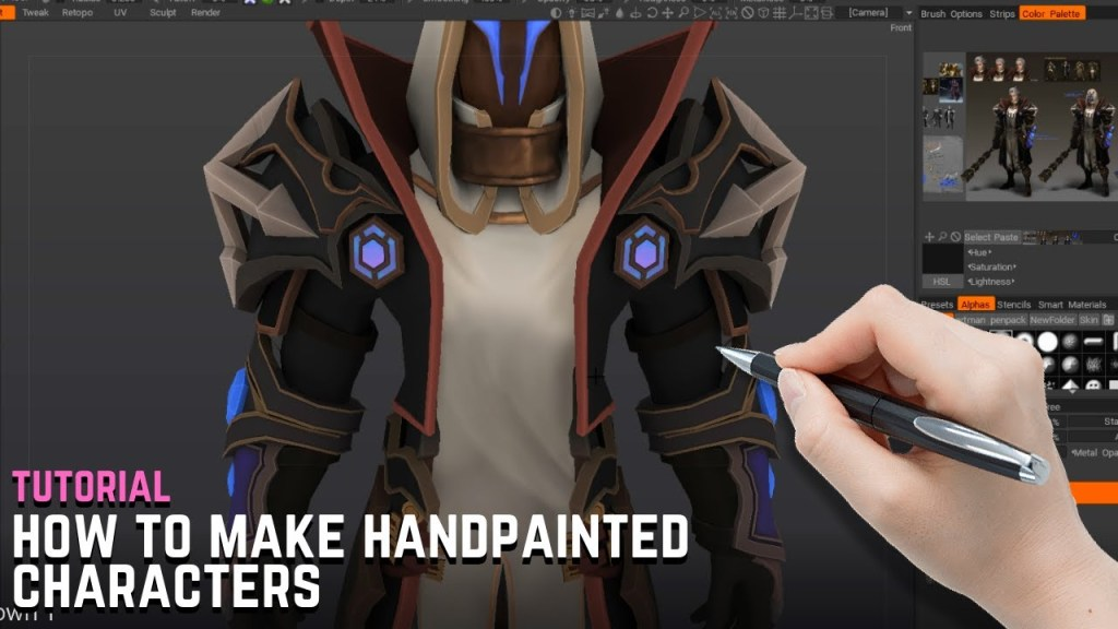 Creating Blizzard-Style Characters – Hand Painted Character Tutorial