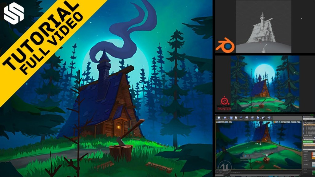 Creating Vibrant Handpainted Environments Using Blender, Substance Painter and Unreal Engine 4