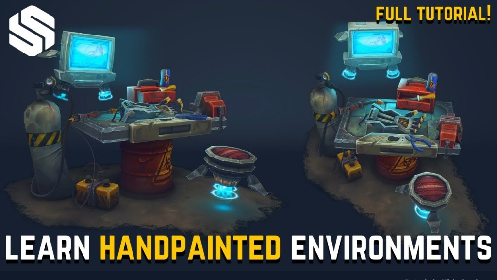 How to Create Handpainted 3D Environments for Beginners