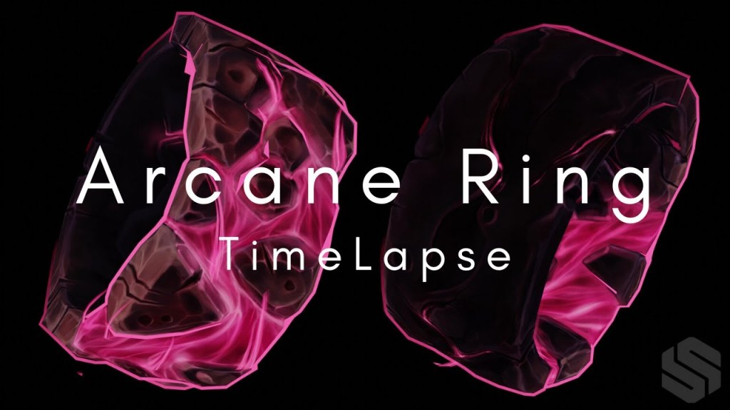 Modeling, Sculpting and Handpainting an Arcane Ring [TIME LAPSE]