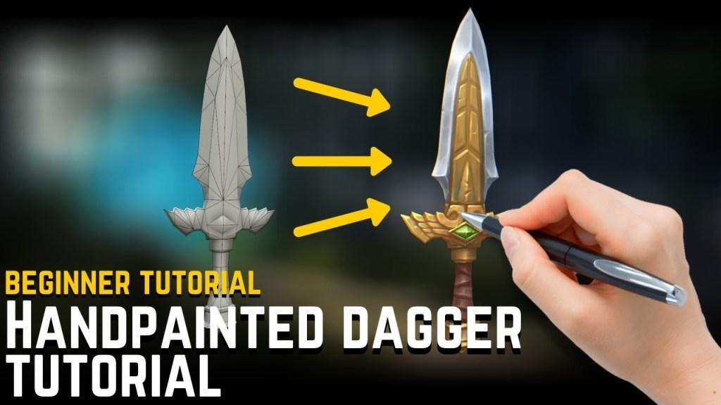 Texture Painting Tips and Tricks – Handpainted 3D Dagger Breakdown [BEGINNERS]