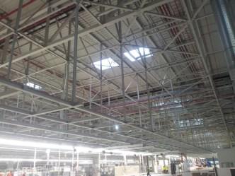 Projekt podkonstrukcji hali montażu VW Września.