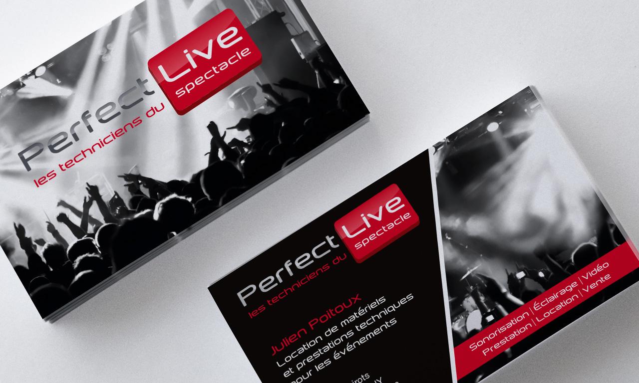 Realisation Carte De Visite Perfect Live Campagne Mailing