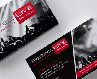 Réalisation carte de visite Perfect Live